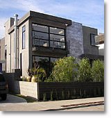 House in Venice, CA with wooden fence and plantings